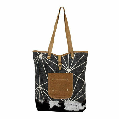Myra Bags Navy Canvas Fashion Guru Boho Tote Bag Purse S-2619 - Piglet's Closet