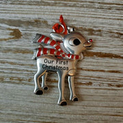 Hallmark Rudolph The Red Nosed Reindeer Our First Christmas Ornament - Piglet's Closet