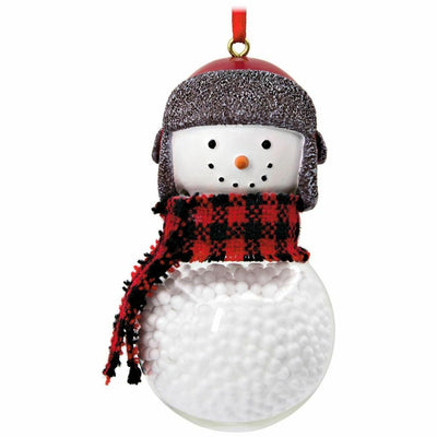 Hallmark Resin Snow Filled Snowman Scarf Christmas Ornament - Piglet's Closet