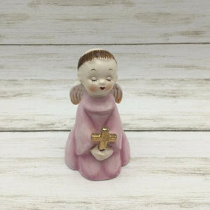 Vintage Japan Ceramic Choir Monk Praying Angel Figurine - Piglet's Closet