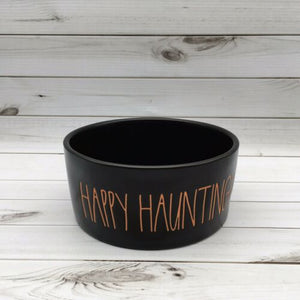 Rae Dunn Magenta Halloween Happy Haunting! Ceramic Black Pet Dog Candy Bowl - Piglet's Closet