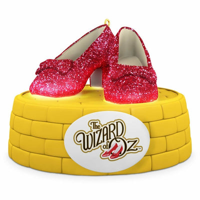 2016 Hallmark Ruby Slippers Wizard Of Oz Magic Ornament - Piglet's Closet
