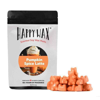 Happy Wax Pumpkin Spice Latte Seasonal 2 oz Teddy Bear Scented Wax Melts - Piglet's Closet