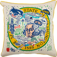 PBK Washington State Souvenir Cotton Decorative Throw Pillow - Piglet's Closet