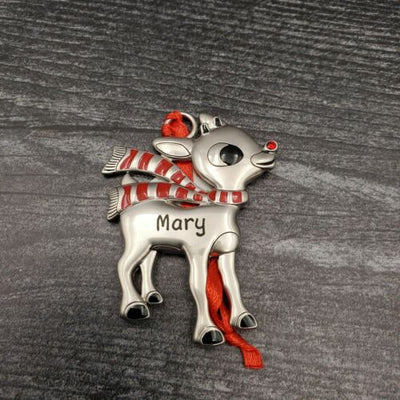 Hallmark Rudolph The Red Nosed Reindeer MARY Christmas Ornament