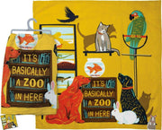 PBK It's Basically A Zoo in Here Animal Pet Dog Cat Dish Towel - Piglet's Closet