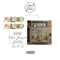 "The Flower Fields - Redesign with Prima Furniture Decor Transfer 24"" x 35"" - Piglet's Closet"