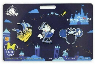 Minnie Mouse The Main Attraction Pin Set – Peter Pan's Flight Limited Release - Piglet's Closet