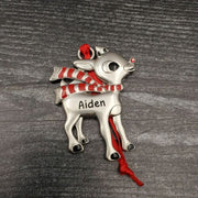 Hallmark Rudolph The Red Nosed Reindeer AIDEN Christmas Ornament