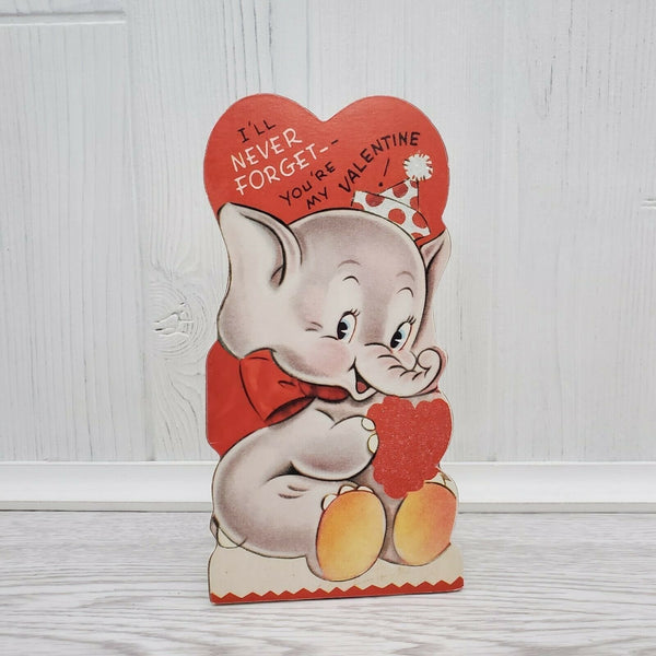 Bethany Lowe Valentines Wild About You Retro Animal Elephant Dummy Board - Piglet's Closet