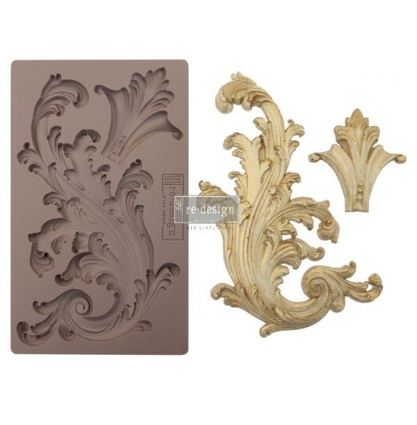Re-Design by Prima Silicone Decor Mould - Portico Scroll II - Piglet's Closet