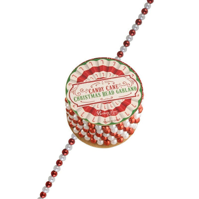 Bethany Lowe Christmas Candy Cane Beaded Garland - Piglet's Closet