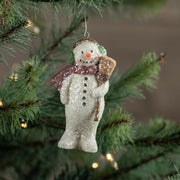 Ragon House Snowman with Broom and Ear Muffs Glitter Christmas Ornament - Piglet's Closet