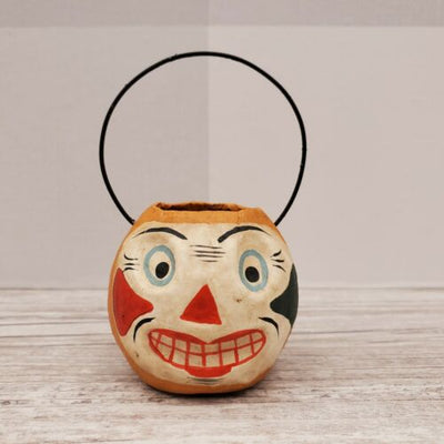 Bethany Lowe Designs Mini Halloween Bucket Ornament Clown Face Pumpkin - Piglet's Closet