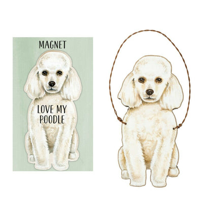 Primitives by Kathy Dog Magnet and Ornament Set - Poodle - Piglet's Closet
