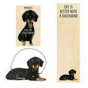 Primitives by Kathy Dog Magnet, Notebook Ornament Set - Dachshund - Piglet's Closet