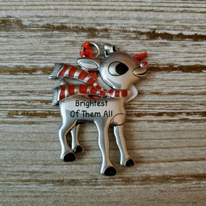 Hallmark Rudolph The Red Nosed Reindeer Brightest of Them All Metal Ornament - Piglet's Closet