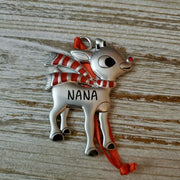 Hallmark Rudolph The Red Nosed Reindeer NANA Metal Ornament - Piglet's Closet
