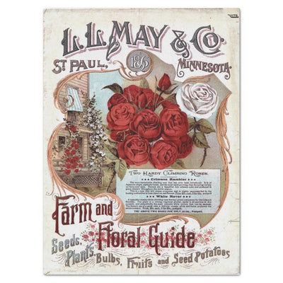 1986 Farm and Floral Guide by L.L. May Tissue Paper - Salvage Scapes - Piglet's Closet