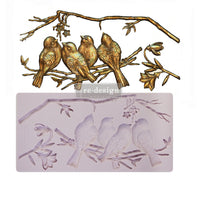 "Avian Love - Re-design with Prima 5"" x 10"" Silicone Decor Mould - Piglet's Closet"