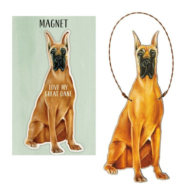 Primitives by Kathy Dog Magnet and Ornament Set - Great Dane - Piglet's Closet