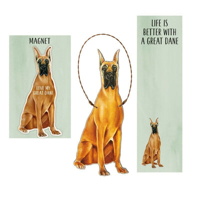 Primitives by Kathy Dog Magnet, Notebook, Ornament Set - Great Dane - Piglet's Closet