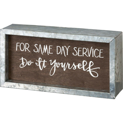 Primitives By Kathy For Same Day Service Do It Yourself Laundry Wood Box Sign