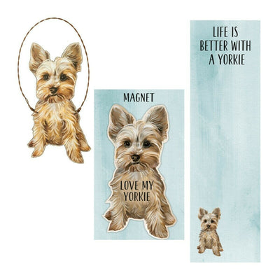Primitives by Kathy Dog Magnet, Notebook, Ornament Set - Yorkie - Piglet's Closet