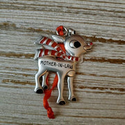 Hallmark Rudolph The Red Nosed Reindeer Mother-in-Law Metal Ornament - Piglet's Closet