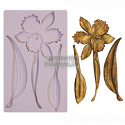"Wildflower - Re-design with Prima 5"" x 8"" Silicone Decor Mould - Piglet's Closet"