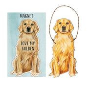 Primitives by Kathy Dog Magnet and Ornament Set - Golden Retriever - Piglet's Closet