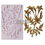 "Lily Flowers - Re-design with Prima 5"" x 8"" Silicone Decor Mould - Piglet's Closet"