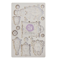 "Queens of Steam 5"" x 8"" Silicone Mould - Prima Finnabair - Piglet's Closet"