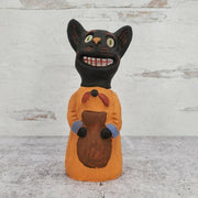 2014 Robert Jackson Pottery Retro Halloween Black Cat Figurine Rock Island, IL - Piglet's Closet