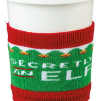 Primitives by Kathy Christmas Secretly an Elf Coffee Sipper Sleeves - Piglet's Closet