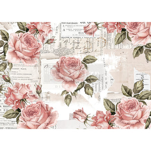 Floral Sweetness - Re-design with Prima Rice Tissue Paper - Piglet's Closet