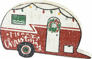 PBK Merry Christmas Camper Trailer Chunky Wooden Box Sign - Piglet's Closet