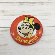 "Vintage Disneyland Character Button Pin 3.25"" Minnie Mouse - Piglet's Closet"