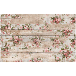 Shabby Floral - Re-design by Prima Floral Mulberry Tissue Decoupage Paper - Piglet's Closet