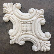 Woodubend Twin Plume Centerpiece #2113 Moulding Furniture Applique - Piglet's Closet