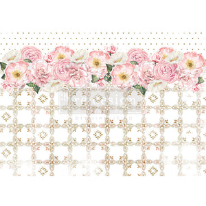 Tranquil Bloom - Re-design with Prima Rice Tissue Paper - Piglet's Closet