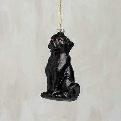 PBK Blown Glass Black Labrador Retriever Dog Christmas Ornament - Piglet's Closet
