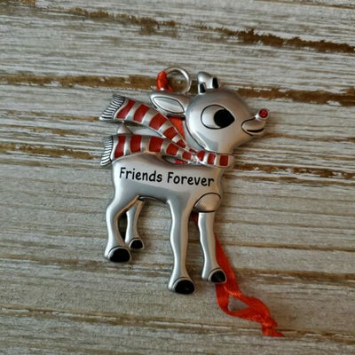 Hallmark Rudolph The Red Nosed Reindeer Friends Forever Metal Ornament - Piglet's Closet