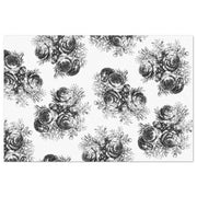 Black & White Rose Floral Decoupage Tissue Paper - Roycycled - Piglet's Closet