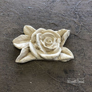 Woodubend Five Leaf Rose Flower #466 Moulding Furniture Applique - Piglet's Closet