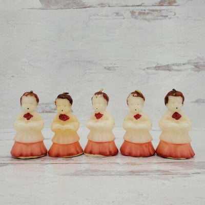 Tavern Candle Lot of 5 Choir Boy Wax Christmas Figurines - Piglet's Closet