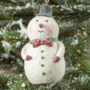 Ragon House Dottie Snowman with Tophat Glitter Christmas Ornament - Piglet's Closet