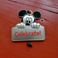 Hallmark Disney Mickey Mouse Celebrate! Metal Flat Gift Ornament - Piglet's Closet
