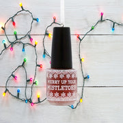 "Hallmark Red Glitter Nail Polish ""Merry Up Your Mistletoes"" Gift Ornament - Piglet's Closet"