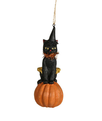 Bethany Lowe Halloween Black Cat Pumpkin Patches Ornament - Piglet's Closet